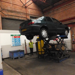 Foulds Car on Lift