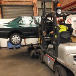 Foulds Car on Forklift
